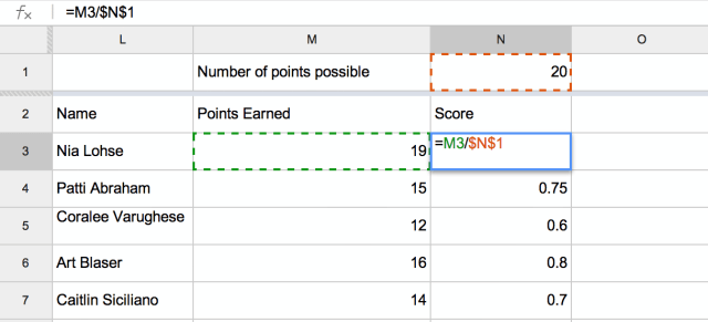 Google Spreadsheets: Absolute Cell Referencing - Teacher Tech