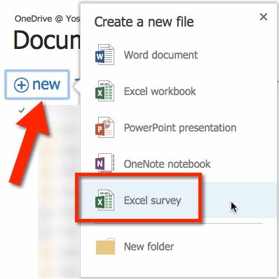 office 365 use excel survey to gather information