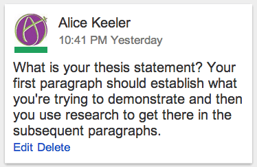 Google Docs: Link to a Comment - Teacher Tech