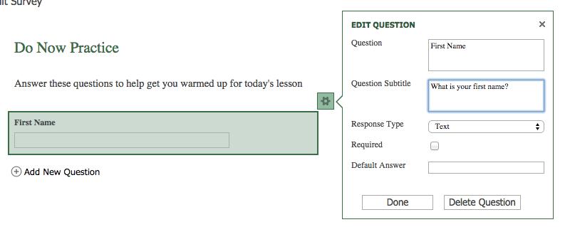 add a question excel survey