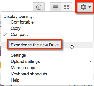 experience the new google drive