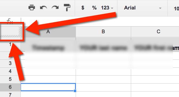 Google Sheets Adjusting The Freeze Bars Teacher Tech