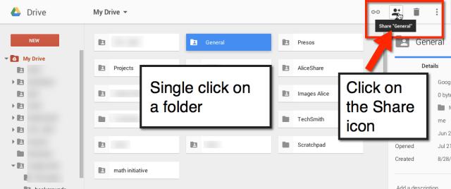 google drive share folder