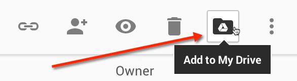 Google Drive add to my drive