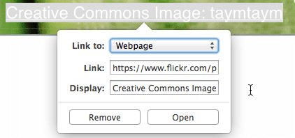 replace with flickr link