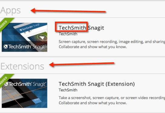 techsmith snagit chrome extension