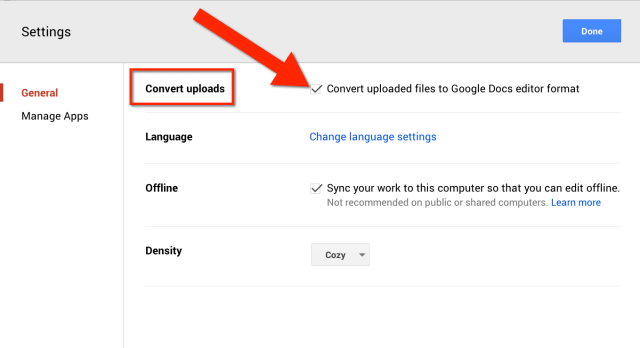 convert office documents to google documents
