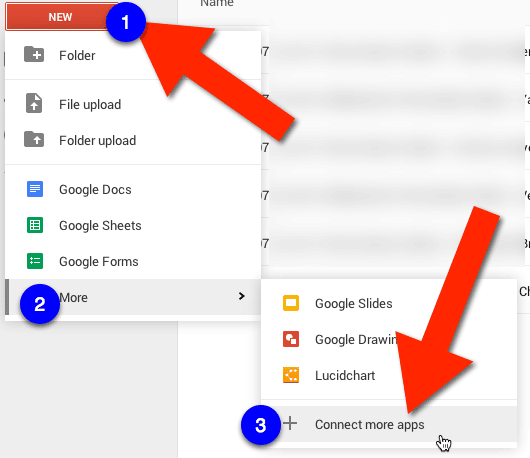 new google drive connect more apps