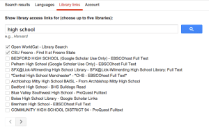 High School Google Scholar linking