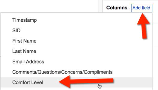 Add comfort level to pivot table