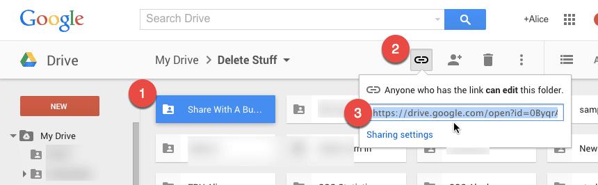 Share Folder Link