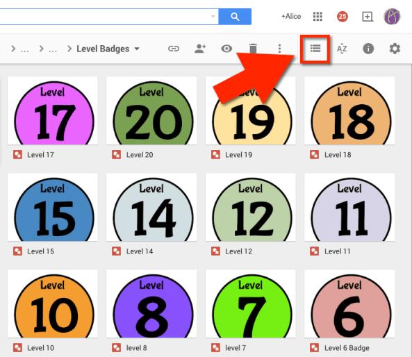 Tile View Google Drive
