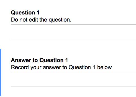 Make 2 questions