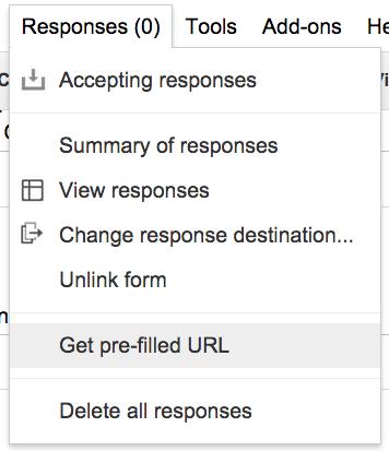 Get pre-filled URL Google Forms