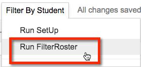 Run FIlterRoster