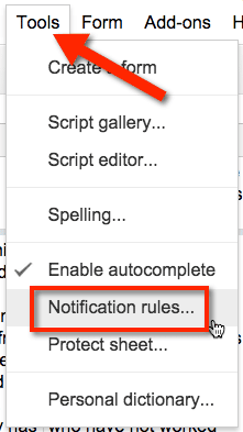 Notification rules