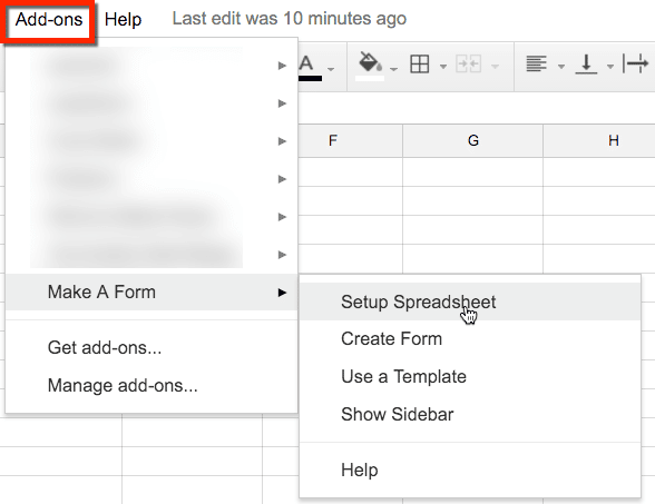 Add-ons in Google Docs and Sheets