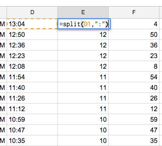 Google Sheets Split