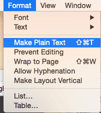 Make Plain Text
