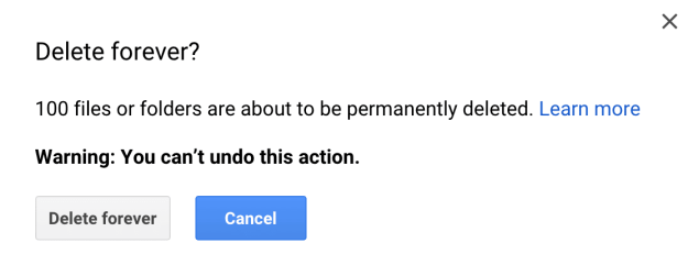 Delete from Google Drive