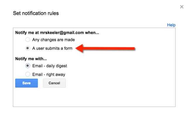 set notification rules