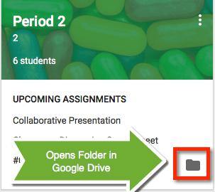 Google Classroom tile folder
