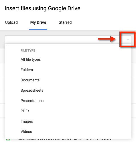 Search file type