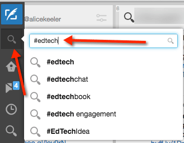 search tweetdeck