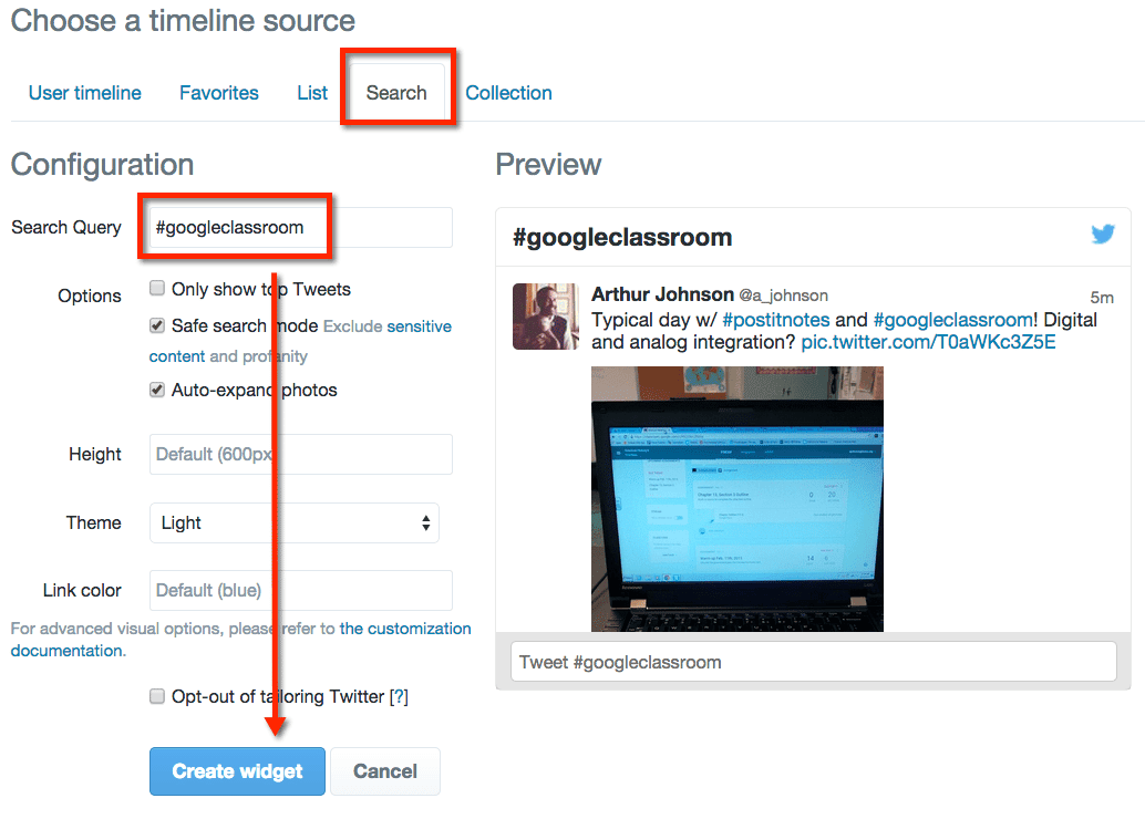 how to add a twitter feed to website