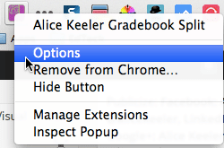 Alice Keeler Gradebook Split Options