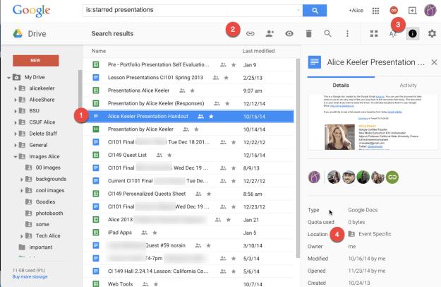 Google Drive Info