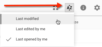 Recent Google Drive edited