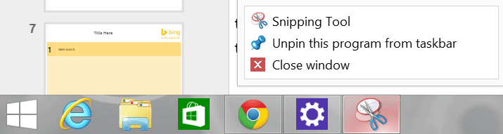 Pin Snipping Tool to Taskbar - Teacher Tech