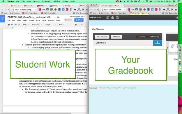 Side by side grading
