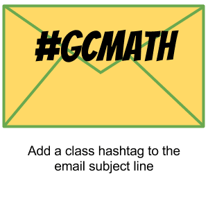Google Classroom class hashtag