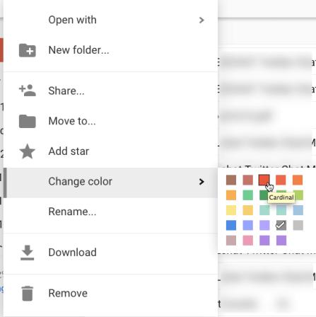 Change color of a google drive folder