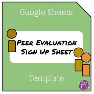 Google Sheets Alice Keeler Peer Evaluation Template