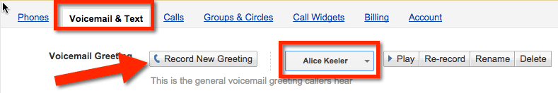 Google Voice Greetings