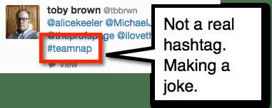 fake hashtag