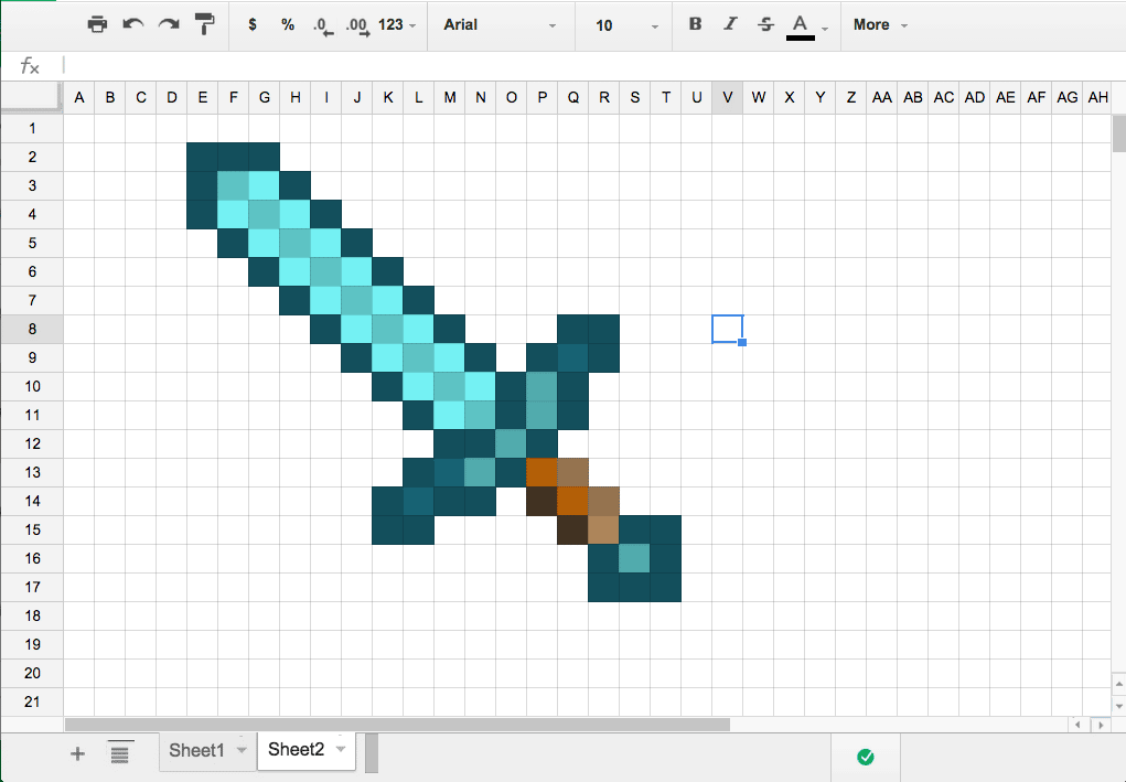 Google Sheets: Create Pixel Art - Teacher Tech