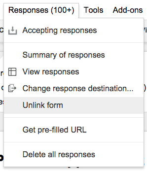 Google Forms Unlink Form