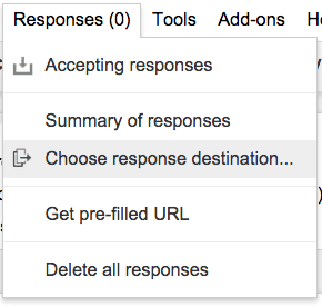 Choose response destination