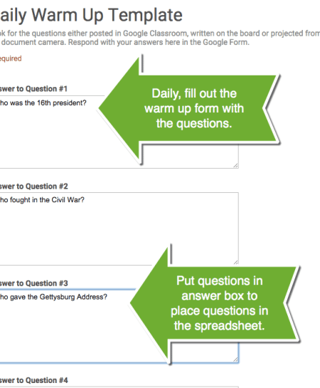 answer key for google forms