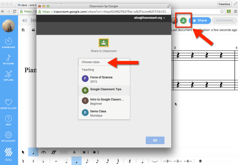 Assign Flat to Google Classroom