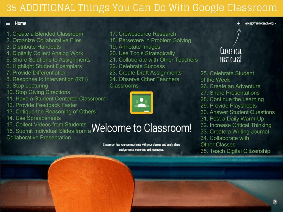 35 Ways to Use Google Classroom ISTE15