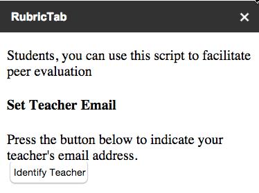 Teacher email button