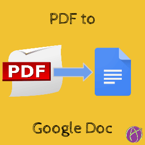 PDF to Google Doc