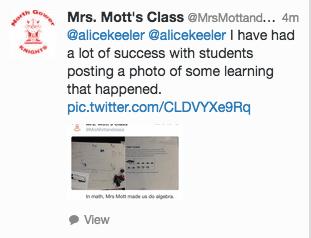 Classroom Tweet