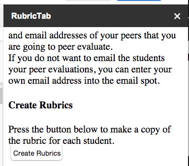 Create Rubrics
