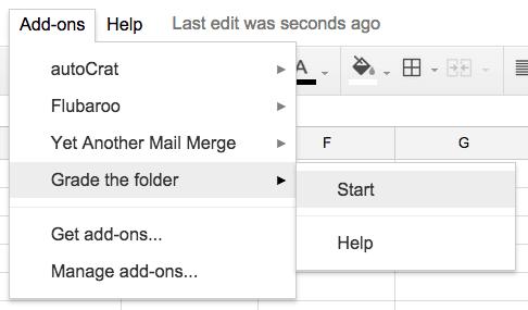 Grade the folder add on